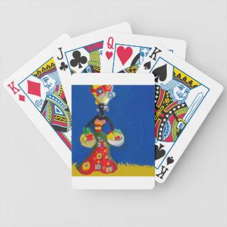Mujer del Caribe en traje Baraja Cartas De Poker
