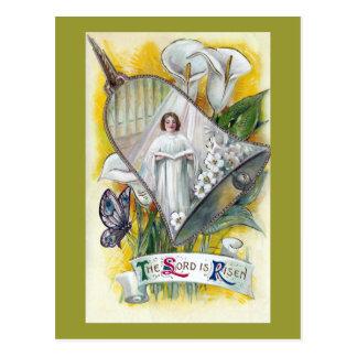 Mujer del coro y vintage Pascua de las calas Tarjetas Postales