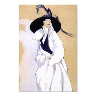"""Mujer del ejemplo del art déco de Dudovich """"en una Foto"""