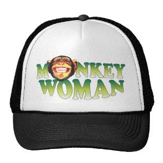 Mujer del mono gorra