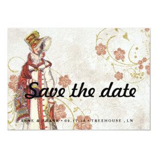 Mujer del Victorian Invitación 12,7 X 17,8 Cm