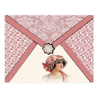 Mujer del vintage postales