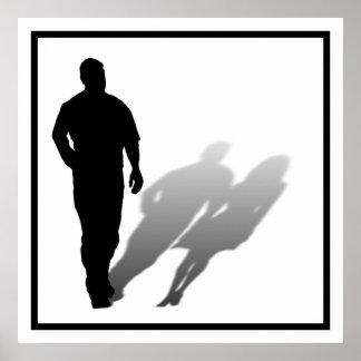Mujer desaparecida del hombre impresiones