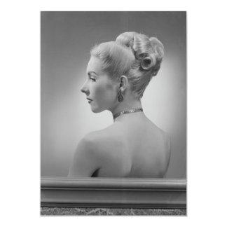 Mujer elegante invitación 12,7 x 17,8 cm