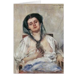 Mujer embarazada de Donna de Lovis Corinto Tarjeta De Felicitación