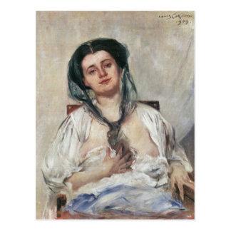 Mujer embarazada de Donna de Lovis Corinto Tarjetas Postales
