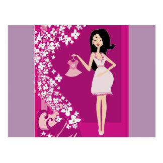 mujer embarazada de Latina Postal