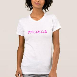 Mujer embarazada de Pregzilla divertida - camiseta
