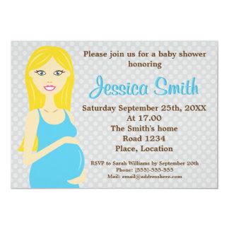 Mujer embarazada del Blonde en fiesta de Invitación 12,7 X 17,8 Cm