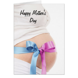 Mujer embarazada del día de madre tarjeta de felicitación