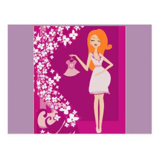 mujer embarazada del redhead postal