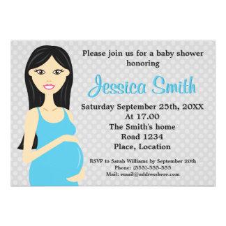 Mujer embarazada linda en fiesta de bienvenida al  anuncios