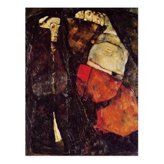 Mujer embarazada y muerte de Egon Schiele- Tarjeta Postal