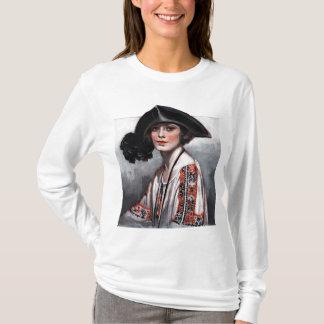 Mujer en blusa bordada