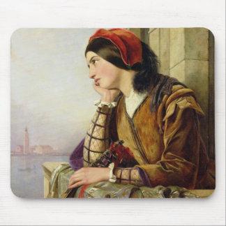 Mujer en el amor, 1856 alfombrilla de ratón