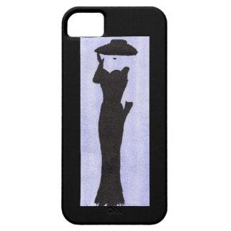 Mujer en negro funda para iPhone SE/5/5s