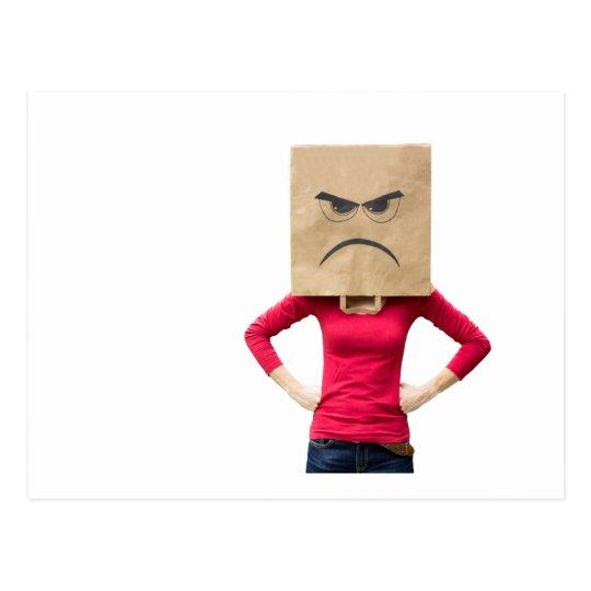 Mujer enojada postal
