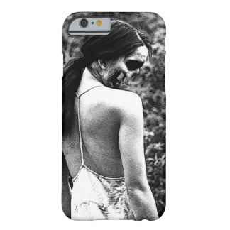 Mujer espeluznante del cráneo funda barely there iPhone 6