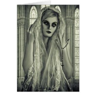 Mujer gótica oscura tarjeta de felicitación