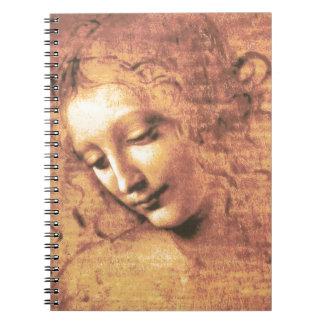 Mujer hermosa de Leonardo da Vinci Libretas Espirales