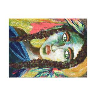 Mujer india joven impresión en lienzo