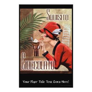 Mujer italiana del chocolate de Squisito Flyer Personalizado