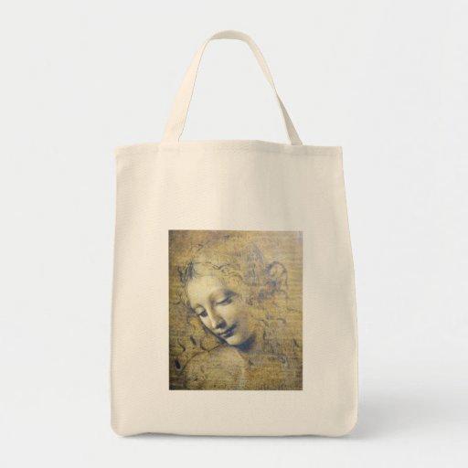 mujer joven 2 bolsa lienzo