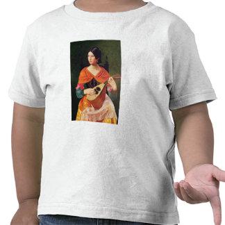 Mujer joven con una mandolina, 1845-47 camisetas