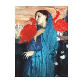 Mujer joven de Edgar Degas con Ibis Impresión En Lienzo