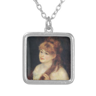 Mujer joven de Pedro Renoir- que trenza su pelo Joyerias