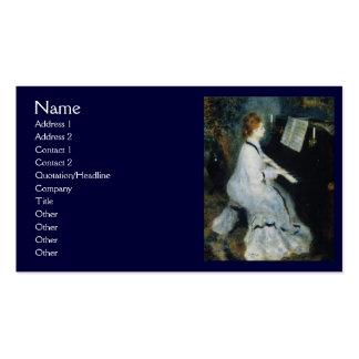 Mujer joven en el piano por Renoir Tarjetas De Visita