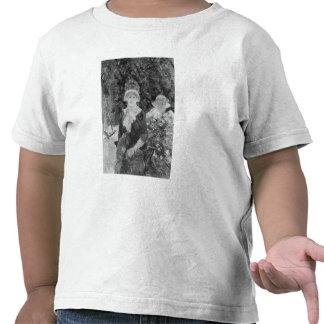 Mujer joven en un jardín 1883 camiseta