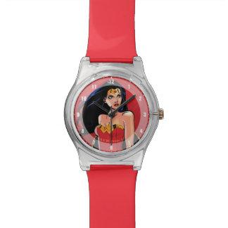 Mujer Maravilla con la espada - feroz Reloj De Pulsera