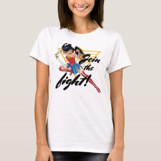 Mujer Maravilla con la espada - únase a la lucha Camiseta