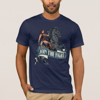 Mujer Maravilla en arte cómico del caballo Camiseta