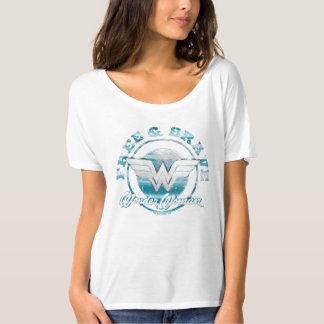 Mujer Maravilla libre y gráfico valiente del Camiseta
