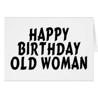 Mujer mayor del feliz cumpleaños tarjeta de felicitación