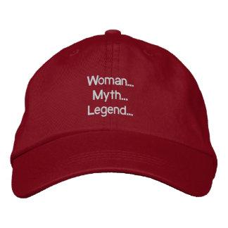 Mujer… Mito… Leyenda… Gorra Gorra De Béisbol Bordada
