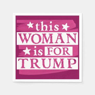 Mujer para las servilletas de papel temáticas del