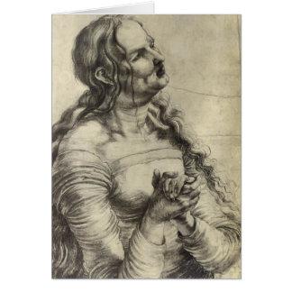 Mujer que llora de Matías Grünewald- Tarjeta De Felicitación
