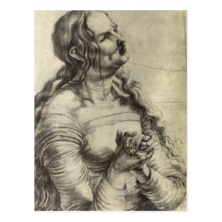 Mujer que llora de Matías Grünewald- Postal