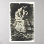 Mujer que llora, Vincent van Gogh Poster
