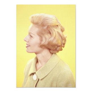 Mujer rubia 2 invitación 12,7 x 17,8 cm