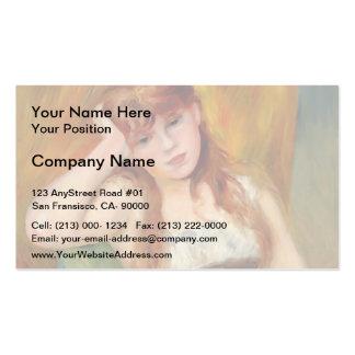 Mujer rubia joven de Pedro-Auguste Renoir- Tarjetas De Visita