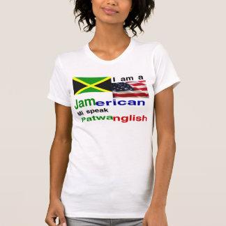 Mujeres americanas jamaicanas camiseta