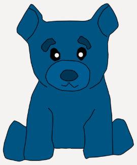Mujeres azules del oso 3/4 camiseta del raglán