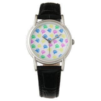 Mujeres coloridas del reloj de la impresión de las