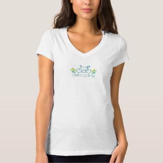 Mujeres con cuello de pico camiseta