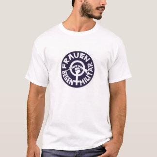 mujeres contra militares camiseta