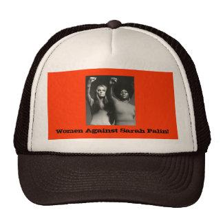 ¡Mujeres contra Sarah Palin! Gorras De Camionero